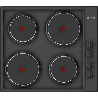 BOSCH PEE686CA1 Electric Solid Plate Hob   Black  Black - 4242002938202