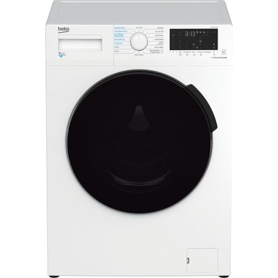 BEKO WDK742421W Bluetooth 7 kg Washer Dryer - White, White