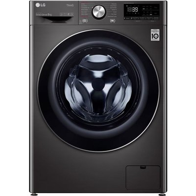 LG TurboWash 360 with AI DD V9 F4V909BTSE WiFi-enabled 9 kg 1400 Spin Washing Machine - Black, Black