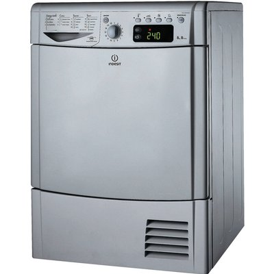 Indesit Tumble Dryer IDCE8450BS Condensor  - Silver, Silver