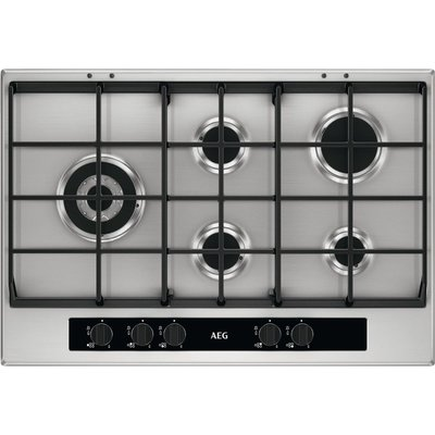 AEG HG755551SY Gas Hob   Stainless Steel  Stainless Steel - 7332543539277