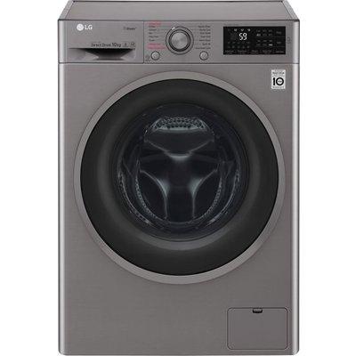LG F4J610SS NFC 10 kg 1400 Spin Washing Machine - Graphite, Graphite