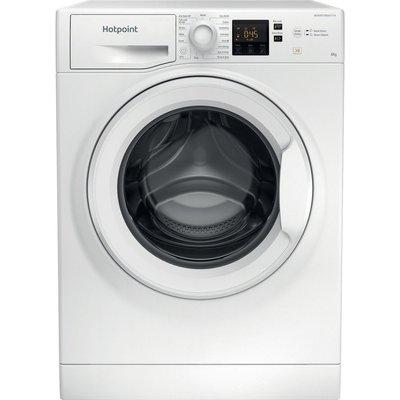 HOTPOINT Coreu0026tradeNSWR 843C WK UK 8 kg 1400 Spin Washing Machine - White, White