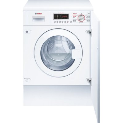 BOSCH WKD28541GB Integrated Washer Dryer - White, White