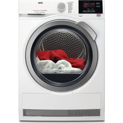 AEG Tumble Dryer  ProSense T6DBG822N Condenser  - White, White