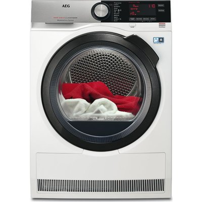 AEG Tumble Dryer  AbsoluteCare T8DSC849R Heat Pump  - White, White