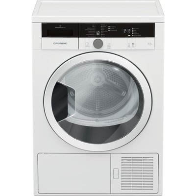 GRUNDIG GTN28240GW 8 kg Heat Pump Tumble Dryer - White, White