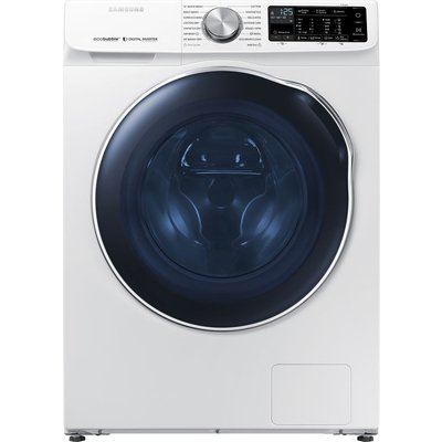 SAMSUNG ecobubble WD10N645RAW WiFi-enabled 10 kg Washer Dryer - White, White