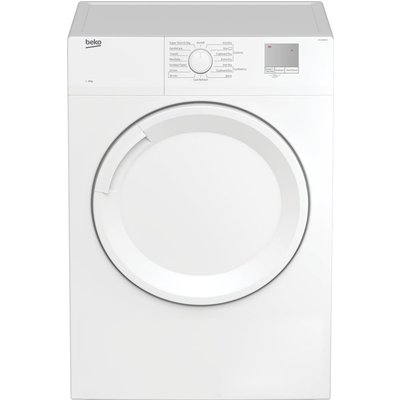 DTGV8000W 8 kg Vented Tumble Dryer - White, White