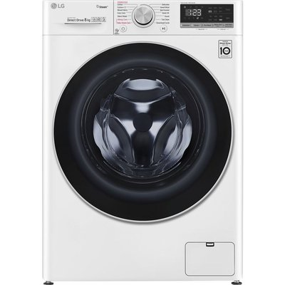 LG F4V508WS WiFi-enabled 8 kg 1400 Spin Washing Machine - White, White