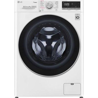 LG AI DD V5 F4V508WS WiFi-enabled 8 kg 1400 Spin Washing Machine - White, White