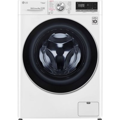 LG F4V509WS WiFi-enabled 9 kg 1400 Spin Washing Machine - White, White