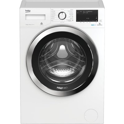Beko Aquatech WX84044E0W Bluetooth 8 kg 1400 Spin Washing Machine - White, White