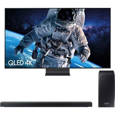 "65"" SAMSUNG QE65Q90RATXXU  Smart 4K Ultra HD HDR QLED TV & harman/kardon HW-Q70R 3.1.2 Wireless Sound Bar Bundle"