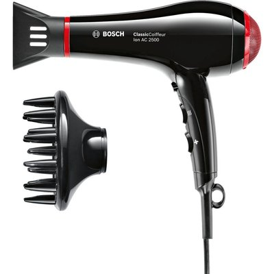 Bosch ClassicCoiffeur Hair Dryer   Black   Red  Black - 4242002874036