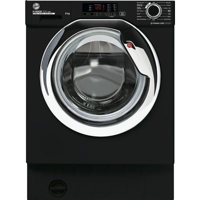 HOOVER H-Wash 300 HBWS48D1ACBE Integrated 8 kg 1400 Spin Washing Machine – Black, Black