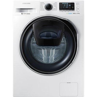 SAMSUNG AddWash? WW90K6414QW Washing Machine - White, White