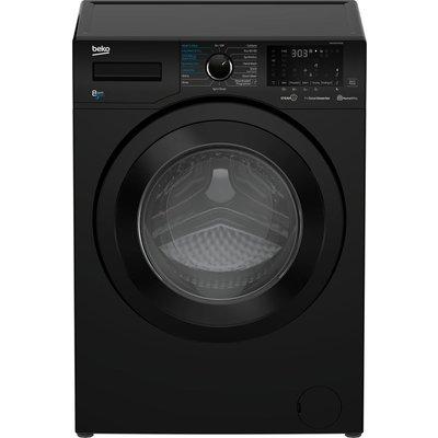 BEKO WDEX8540430B Bluetooth 8 kg Washer Dryer - Black, Black