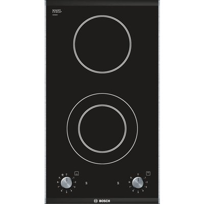 Bosch PKF375V14E electric hobs  in Black   Brushed Steel - 4242002473215