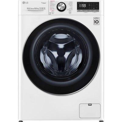 LG TurboWash with AI DD V7 F4V710WTS WiFi-enabled 10.5 kg 1400 Spin Washing Machine - White, White