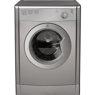 Indesit Tumble Dryer IDV75S Vented  - Silver, Silver