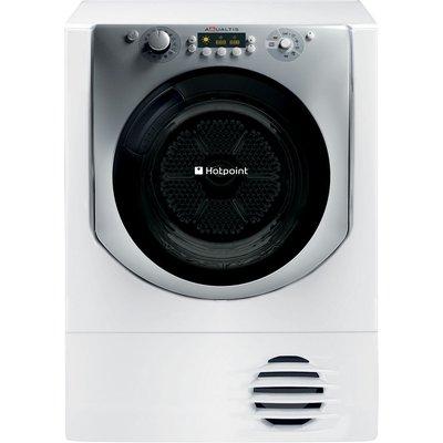 Hotpoint Condenser Tumble Dryer Aqualtis AQC9 BF7E1  - White, White
