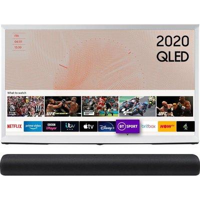 "49"" SAMSUNG The Serif QE49LS01TAUXXU  Smart 4K Ultra QLED TV & 2.0 All-in-One Sound Bar Bundle, Black"