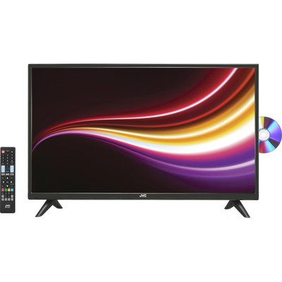 "32""  JVC LT-32C485 LED TV with Built-in DVD Player, Gold"
