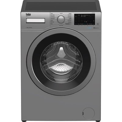 BEKO WEX740430S Bluetooth 7 kg 1400 Spin Washing Machine – Silver, Silver