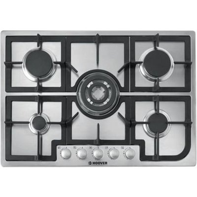 8016361815773 | Hoover HGH75SQCX gas hobs  in Stainless Steel Look