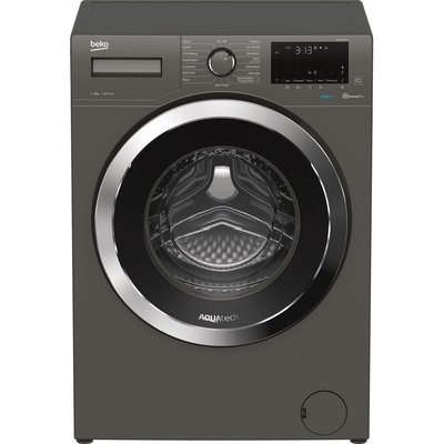 BEKO Aquatech WEX94064E0G Bluetooth 9 kg 1400 Spin Washing Machine - Graphite, Graphite