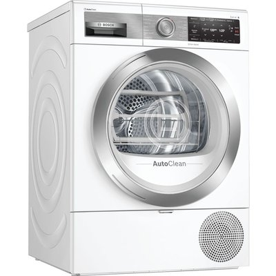 BOSCH Serie 8 WTX88EH9GB Smart 9 kg Heat Pump Tumble Dryer - White, White