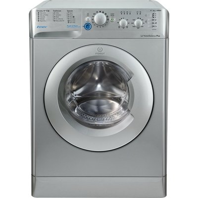 INDESIT BWC 61452 S 6 kg 1400 Spin Washing Machine - Silver, Silver