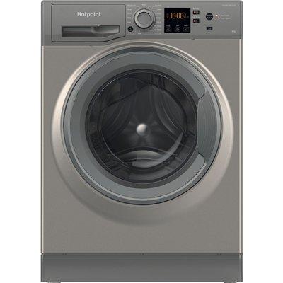 HOTPOINT Coreu0026tradeNSWR 843C GK UK 8 kg 1400 Spin Washing Machine - Graphite, Graphite