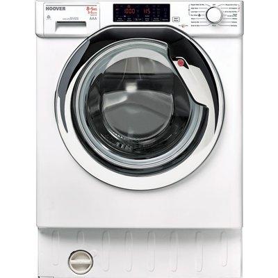 HOOVER HBWD 8514TAHC Integrated 8 kg Washer Dryer - White, White