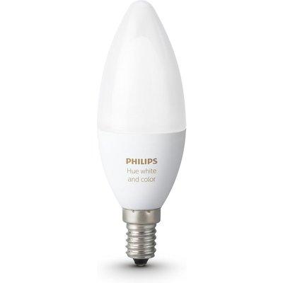PHILIPS Hue White & Colour Ambience Wireless Bulb - E14, White