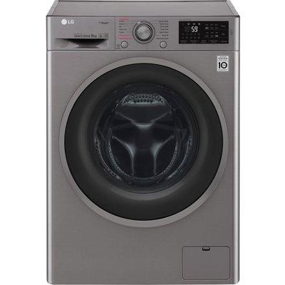 LG F4J609SS NFC 9 kg 1400 Spin Washing Machine - Graphite, Graphite