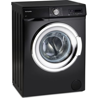 MONTPELLIER MW7140K 7 kg 1400 rpm Washing Machine - Black, Black
