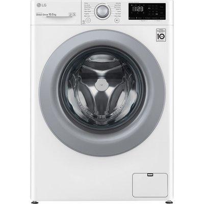 LG AI DD V3 F4V310WNE 10.5 kg 1400 Spin Washing Machine - White, White
