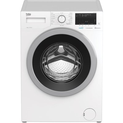 BEKO WEX840530W Bluetooth 8 kg 1400 Spin Washing Machine - White, White
