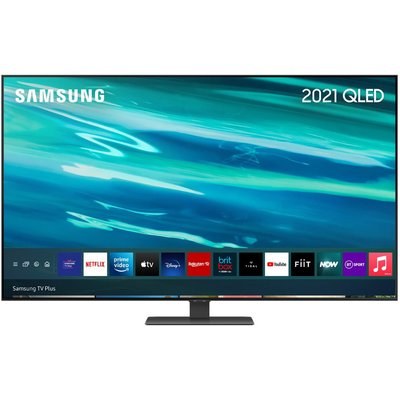 "75"" SAMSUNG QE75Q80AATXXU  Smart 4K Ultra HD HDR QLED TV with Bixby, Alexa & Google Assistant, Black"
