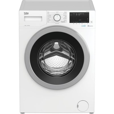 BEKO WEX940530W Bluetooth 9 kg 1400 Spin Washing Machine – White, White