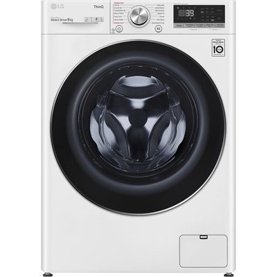 LG TurboWash 360 with AI DD V9 F4V909WTSE WiFi-enabled 9 kg 1400 Spin Washing Machine - White, White