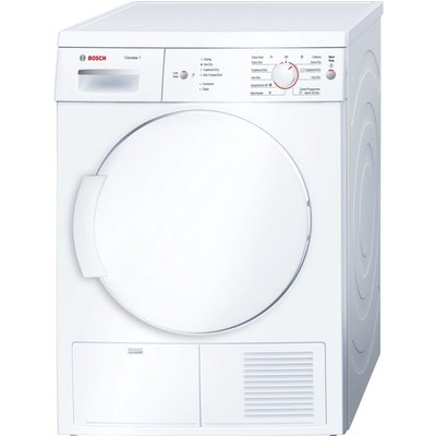Bosch Tumble Dryer Classixx 7 WTE84106GB  - White, White