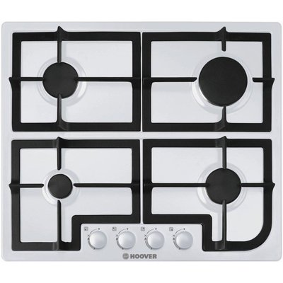 8016361815735 | Hoover HGH64SCW 4 Burner Gas Hob   White