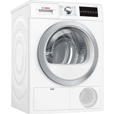 Bosch Tumble Dryer Serie 6 WTG86402GB Condenser  - White, White