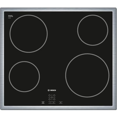 Bosch PKE645D17E 59cm Touch Control Four Zone Ceramic Hob   Black - 4242002723938