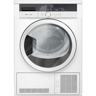 Grundig Tumble Dryer GTN27110GW 7 kg Condenser  - White, White
