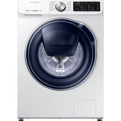 SAMSUNG QuickDrive WW90M645OPW Smart 9 kg 1400 Spin Washing Machine - White, White