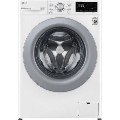 LG AI DD V3 F4V309WNE 9 kg 1400 Spin Washing Machine - White, White